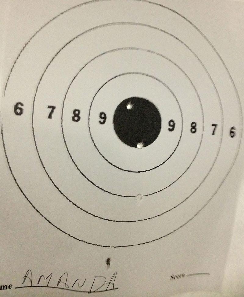 08 shooting range bulleye