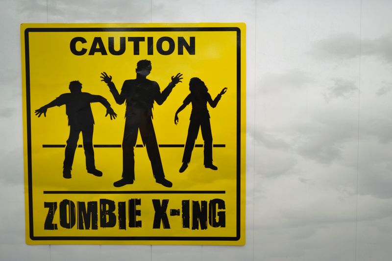 01 zombie sign background