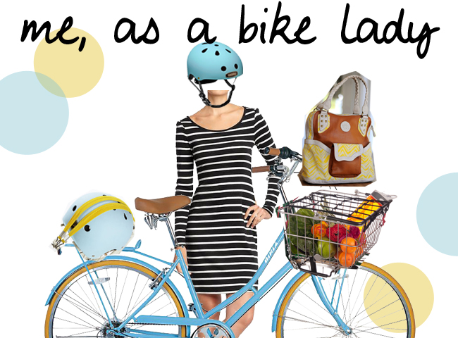 Me as a bike lady