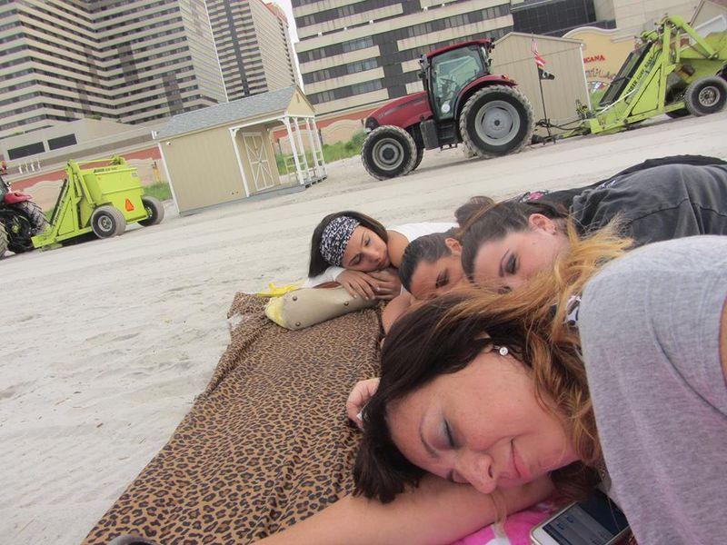00 sleeping on the beach