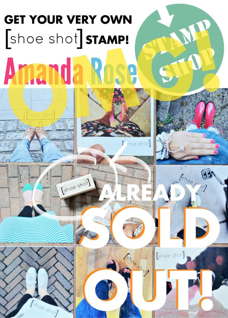 Shoe shot stamp SOLD OUT | Amanda Rose STAMP SHOP