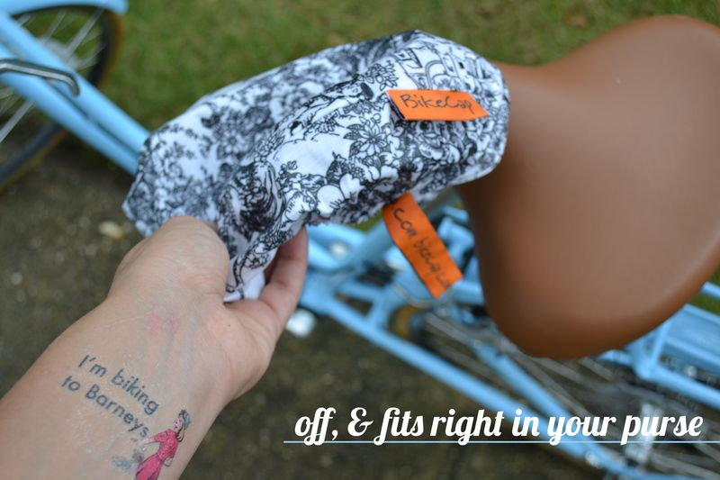 Eleanor's Bike Seat Cover review 08 | Amanda Rose blog