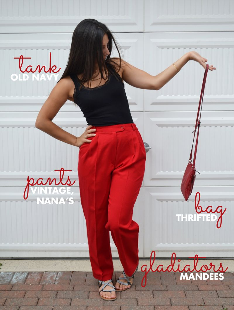 Nanas RED PANTS 02 | Amanda Rose blog