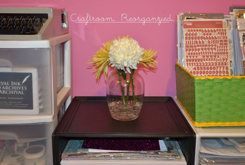 Mega Pink Craftroom Reorganized 01 | Amanda Rose blog