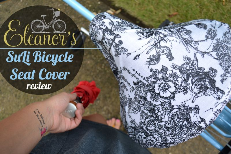 Eleanor's Bike Seat Cover review 01 | Amanda Rose blog