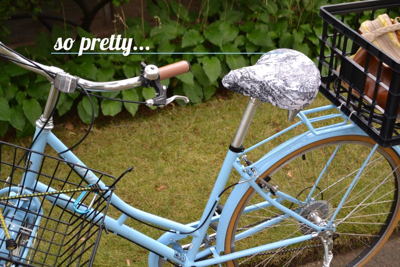 Eleanor's Bike Seat Cover review 02 | Amanda Rose blog