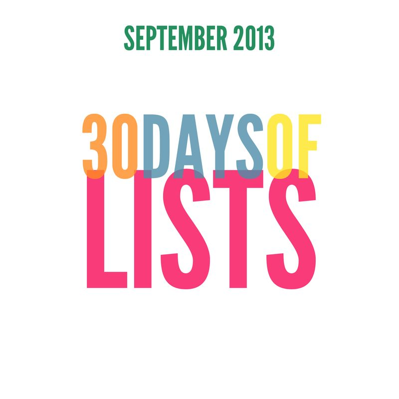 00 SEPT2013 30Lists cover image