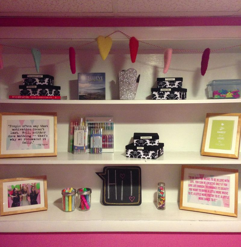 Mega Pink Craftroom Reorganized 02 01 | Amanda Rose blog