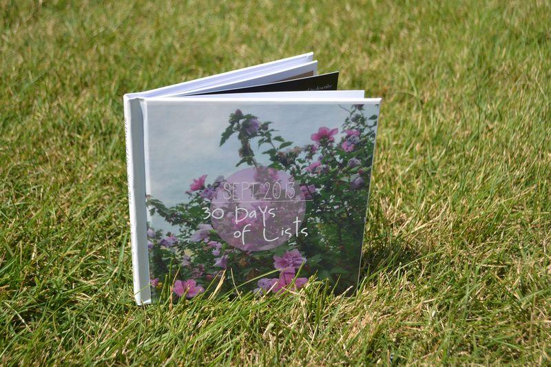 30 Days of Lists Book 01 |Sept 2013| Amanda Rose blog