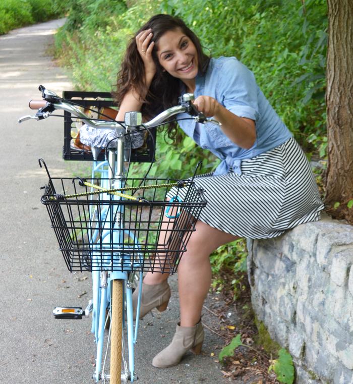 Biria Citi-Bike portrait_off bike | Amanda Rose blog