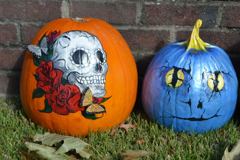Painted Pumpkins 2013 Amanda Rose Zampelli The Blog