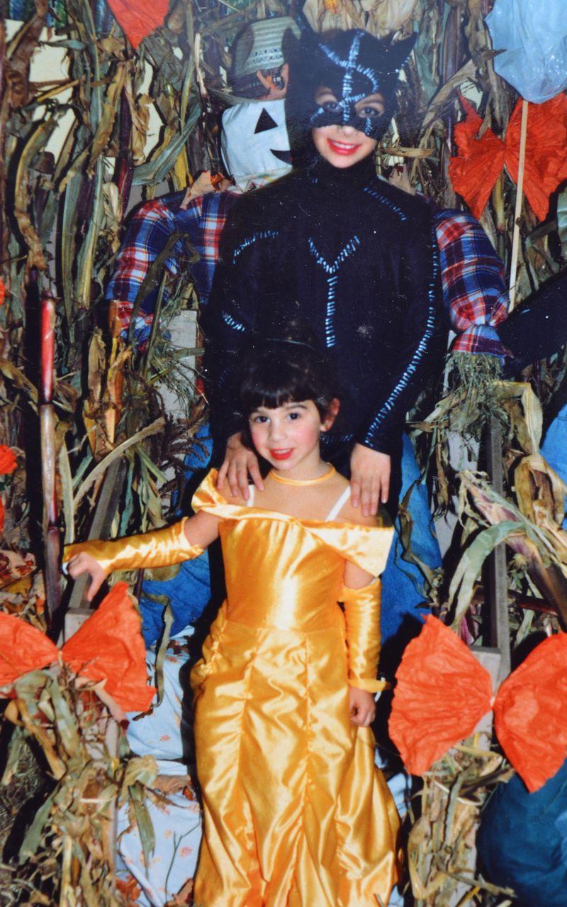 Halloweens Past | Catwoman & Belle | Amanda Rose blog