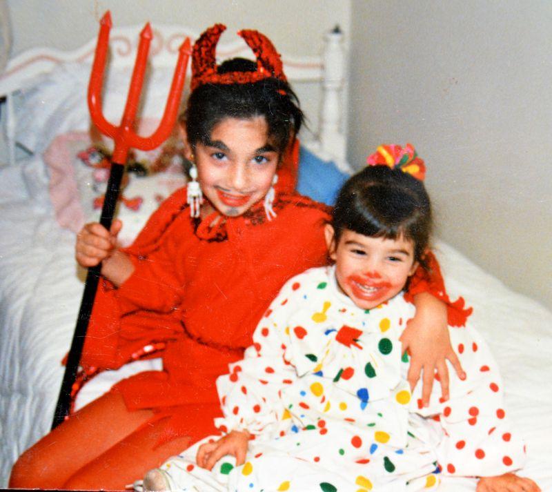 Halloweens Past | Devil and Clown | Amanda Rose blog