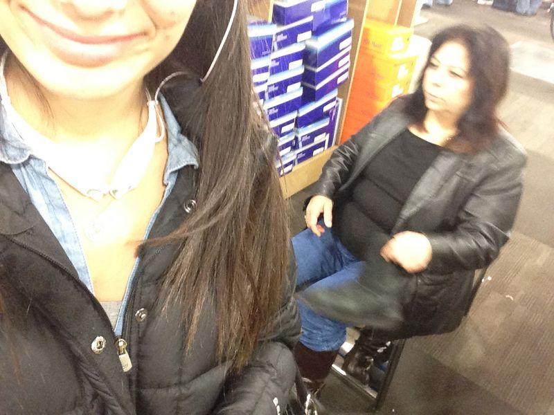 Boot shopping mom