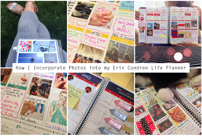 Photos into EC life planner | Amanda Rose blog