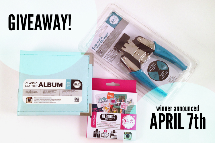 We r mem April 7 giveaway