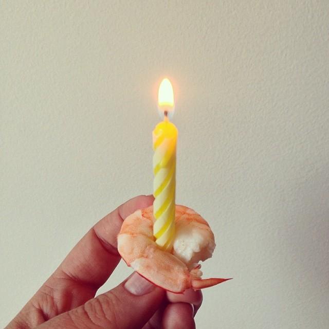 Birthday shrimp