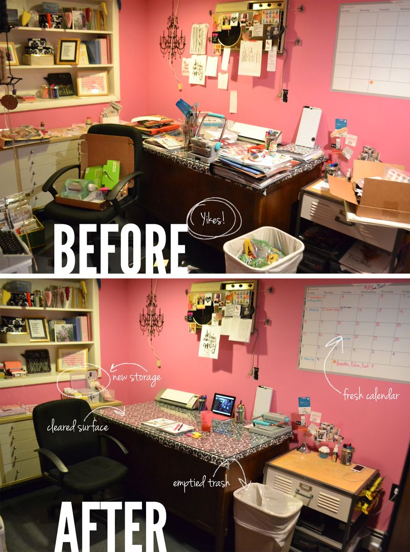 Crafroom cleanup 01 | Amanda Rose blog