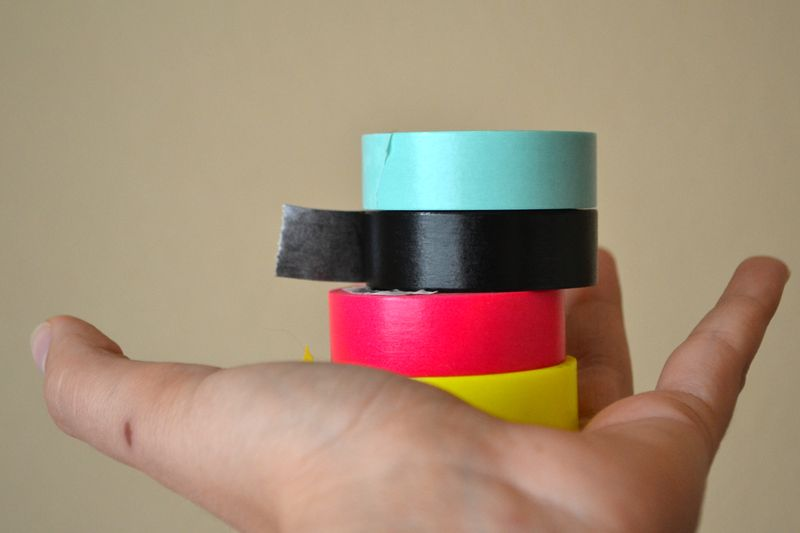 Solid washi tape