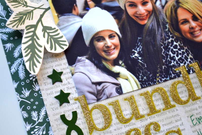 bundled BFFs holiday scrapbook layout using me & my BIG ideas products | Amanda Rose Zampelli