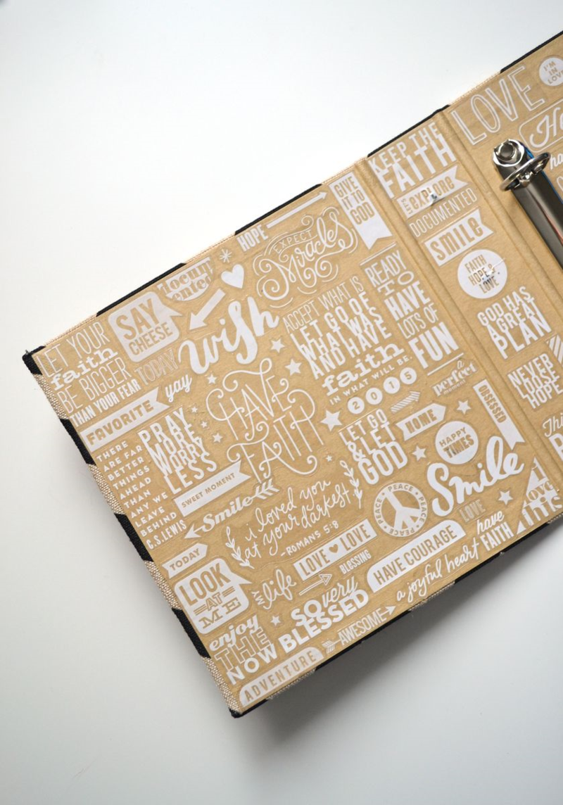 Project Life 2015 // using a bunch of mambiSTICKS clear stickers on my album's inside cover   via Amanda Rose Zampelli