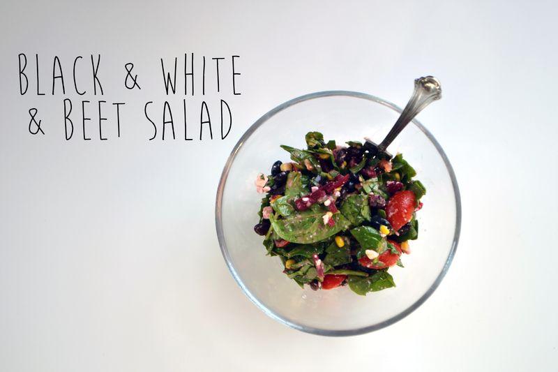 Black-n-white-n-beet salad | Amanda Rose Zampelli