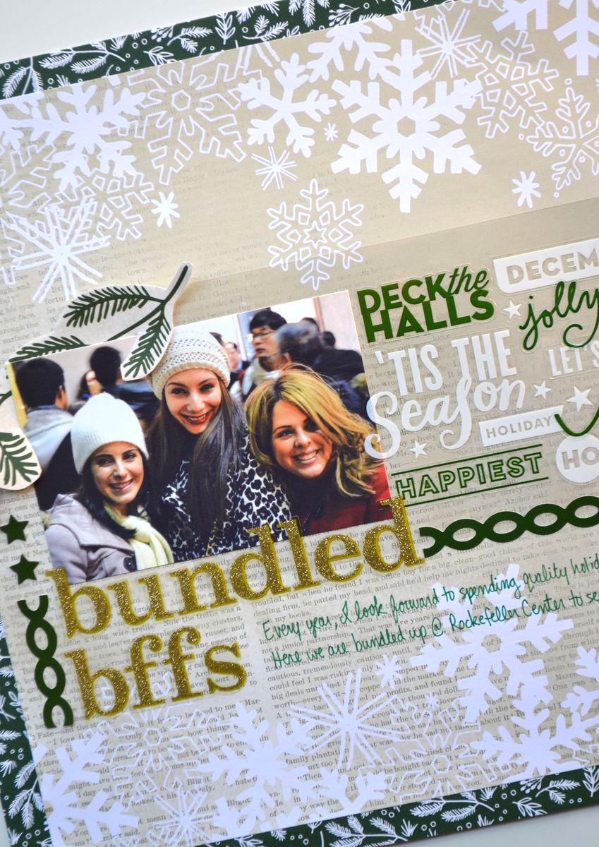 Scrapbook ideas about me - Bundled Bffs Holiday Scrapbook Layout Using Me My Big Ideas Products Amanda Rose Zampelli