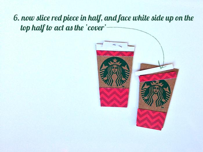 make a mini Starbucks red cup from a coffee cozy | Amanda Rose Zampelli
