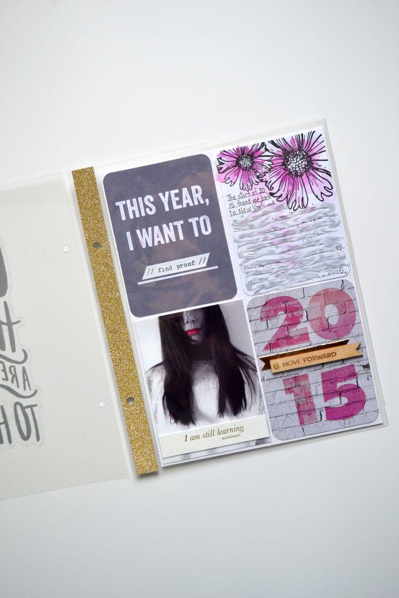 Project Life 2015 // intro page   via Amanda Rose Zampelli