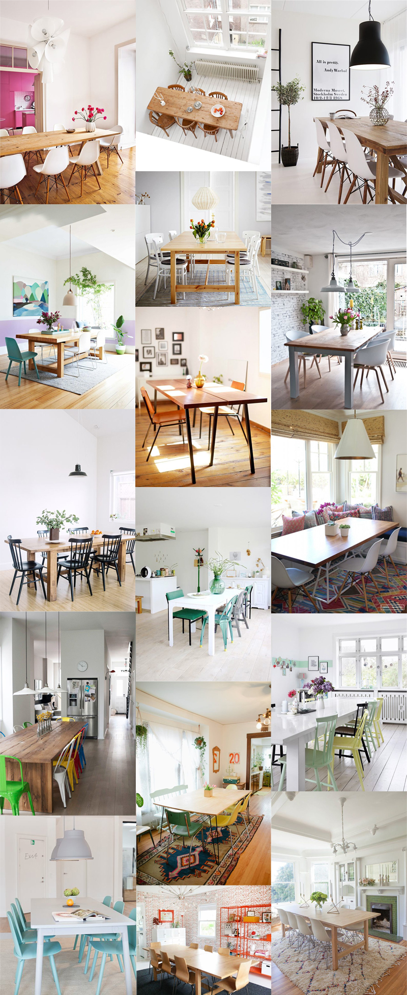 My first place - long dining table