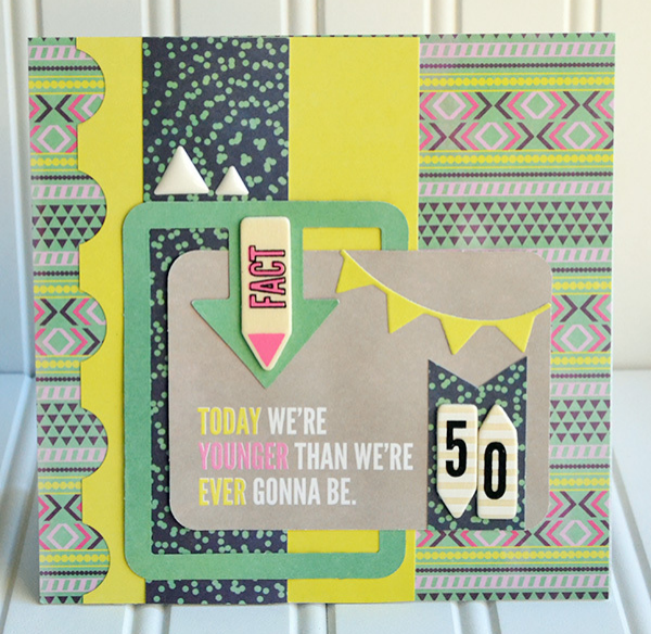 It Factor 50th birthday card | We R Memory Keepers