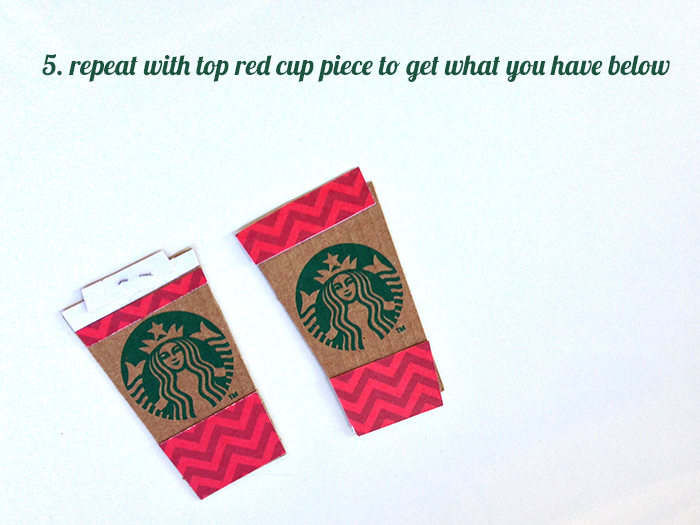 make a mini Starbucks red cup from a coffee cozy | Amanda Rose Zampelli
