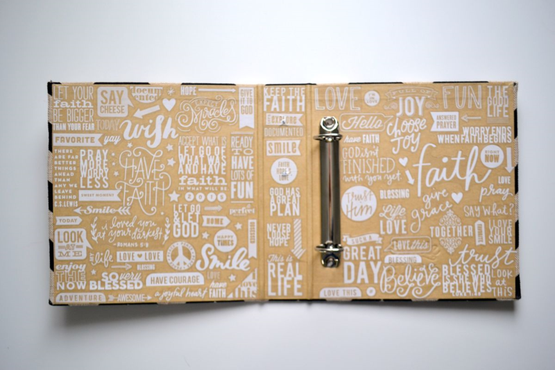 Project Life 2015 // using a bunch of mambiSTICKS clear stickers on my album's inside cover | via Amanda Rose Zampelli